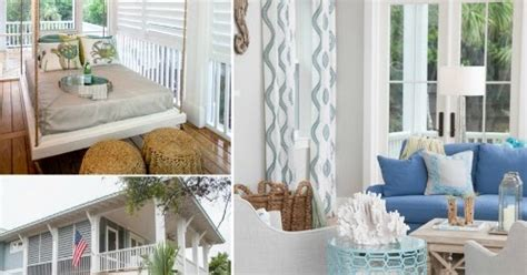 southern coastal home in pastel blue gray completely