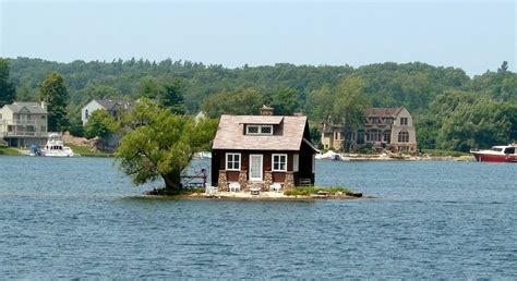 just room enough island the thousand islands of st lawrence river amusing planet