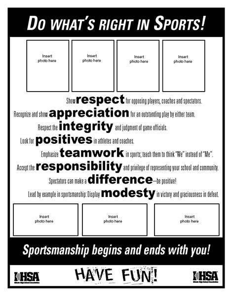 high school football program template do what s right sportsmanship resources ihsa