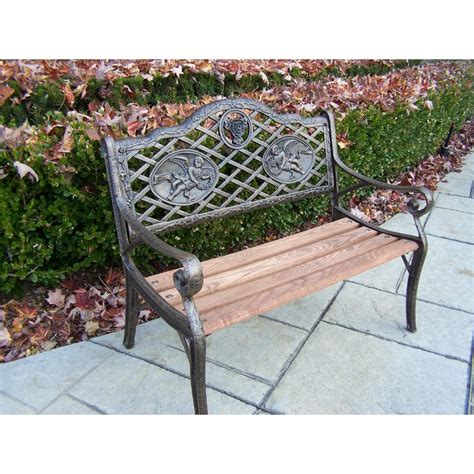 outdoor decorative bench garden decorative bench with angel design hd6031 ab the