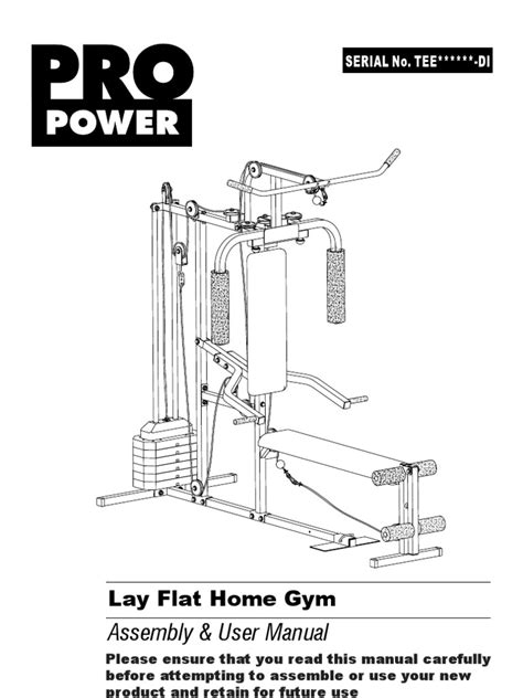 pro power lay flat home inst di v 08