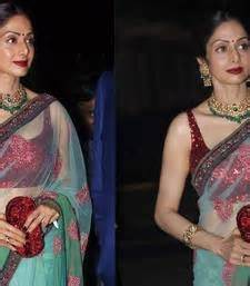 Dewi Blouse Grey T3009 2 buy sridevi sarees fashion designs of