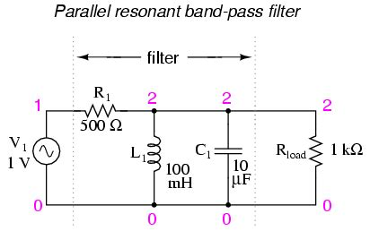 high pass filter lc circuit resonant filters alternating current ac current