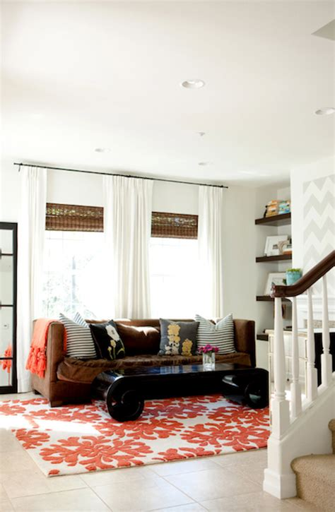 brown and orange living room contemporary living room artistic designs for living