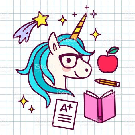 imagenes de unicornios a lapiz unicornio m 225 gico de dibujos animados lindo con anteojos