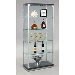 Glass Curio Cabinets Chintaly Glass Curio Cabinet At Hayneedle