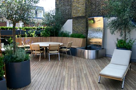 outdoor terrace contemporary roof terrace in baker street marylebone