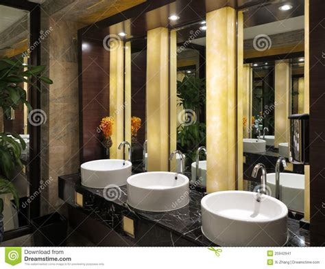 Toilet sinks mirror stock image image 25942941