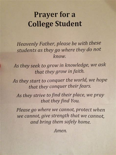 College Kid Letter To Seinfeld Prayer For College Students Proud College A Well My Children And Baby