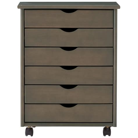 6 Drawer Storage Cart by Home Decorators Collection Stanton Wide 6 Drawer Storage