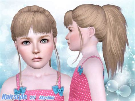 skysims hair child 188 sims 3 pinterest skysims hair child 217 a sims 3 pinterest