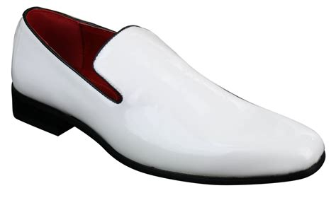 mens white patent leather loafers mens slip on patent shiny driving loafers shoes leather