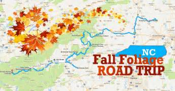 best fall foliage road trip map for carolina 2017