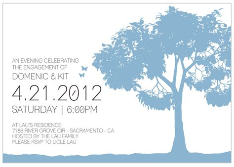 sample engagement party invitation insde by ison on