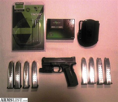 springfield xdm laser light armslist for sale springfield xdm 9mm 3 8 trijicon ns