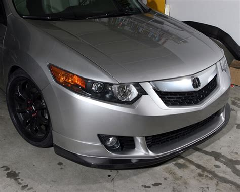 2010 acura tsx front lip jdp engineering carbon front lip spoiler acura tsx 09 10
