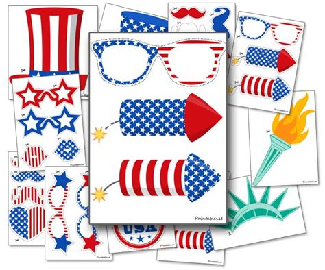 printable photo booth props 4th of july photo booth props 4th of july