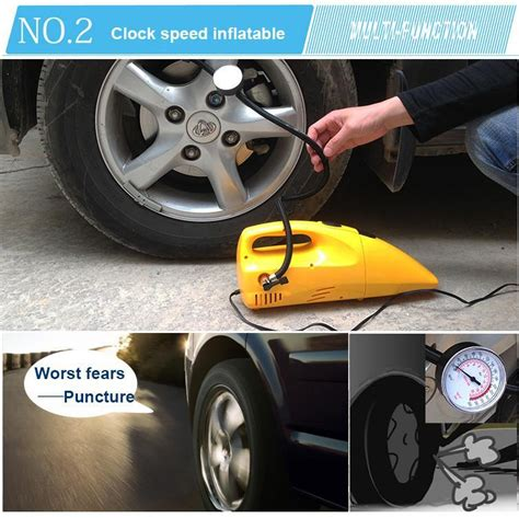 newest multifunction portable car vacuum cleaner wet  dry aspirador electric air pump