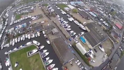 shadow boats brundall norfolk brundall boat yard from dji phantom youtube