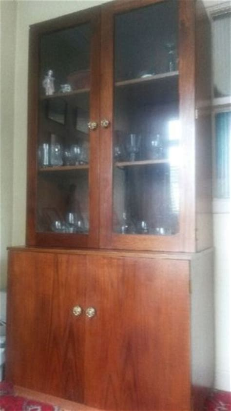 Custom Glass For Cabinets by Custom Made Wood Glass Display Cabinet For Sale In