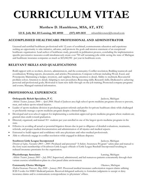 Physician Assistant Resume Template by Curriculum Vitae Curriculum Vitae Sle Undergraduate Students