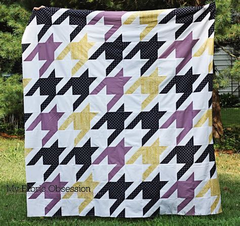 Tula Pink Houndstooth Quilt Pattern by Tula Pink Sew Along Houndstooth Sew Sweetness