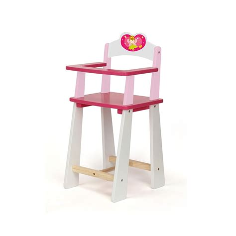 wooden high chair doll furniture