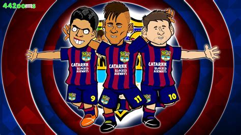 wallpaper neymar cartoon msn messi neymar suarez wallpapers wallpaper cave