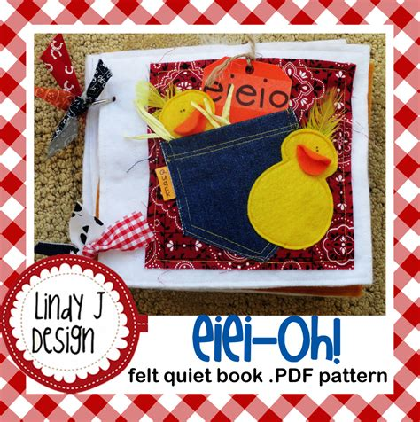 pattern for baby quiet book eiei oh felt quiet book pdf pattern from lindyjdesign on
