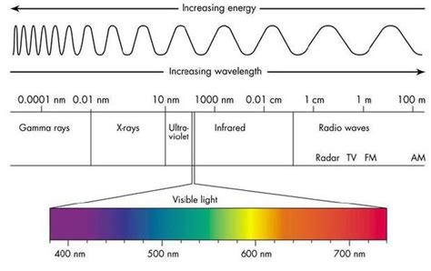 what color of visible light has the highest energy colour in the visible light spectrum has the least energy