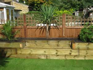 Ideas For Using Railway Sleepers In The Garden Mart Garden Landscaping With Sleepers