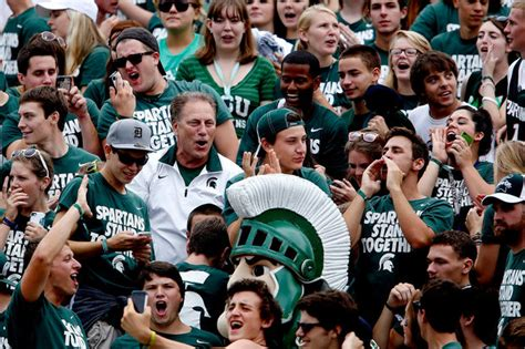 michigan student section msu s football student section bucket list 10 things to