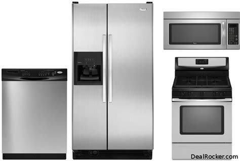 whirlpool kitchen appliances abt deal save 640 on whirlpool 4 piece stainless steel
