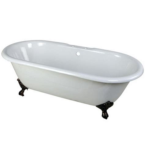 7 foot bathtub aqua eden classic 5 5 ft cast iron oil rubbed bronze claw