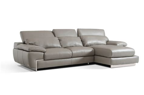modern gray sofa molino modern grey leather sectional sofa