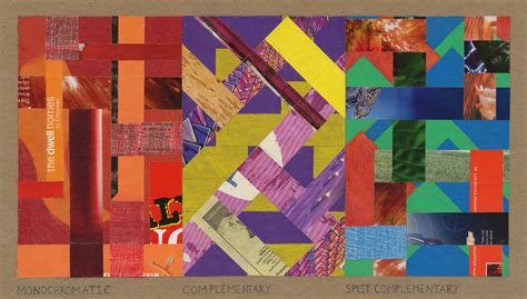 color collage assignment color study collages in the style of