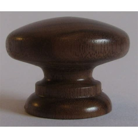Wooden Knobs And Handles by Knob Style A 30mm Walnut Lacquered Wooden Knob