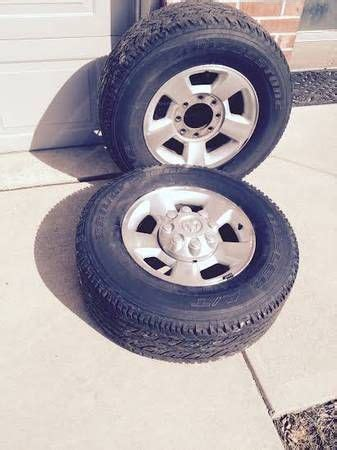 Dodge Ram Wheels And Tires For Sale Ram Dodge 8 Lug Rims Aluminum 17 Quot With Center Caps For