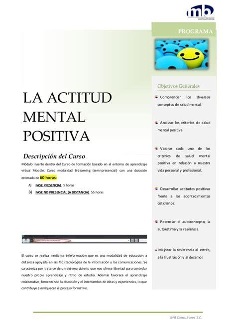 la actitud mental positiva actitud mental positiva