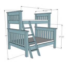 Plans For Building A Twin Over Full Bunk Bed ana white twin over full simple bunk bed plans diy projects