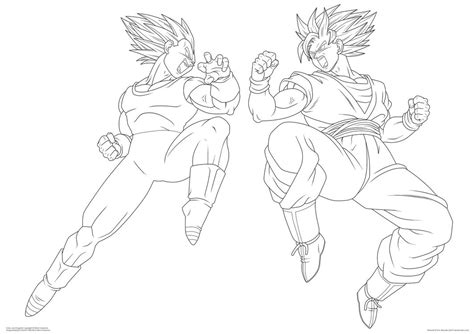 sketch of vegeta ssj4 coloring pages