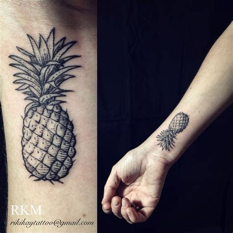 pineapple tattoo pineapple by riki middleton wrist in
