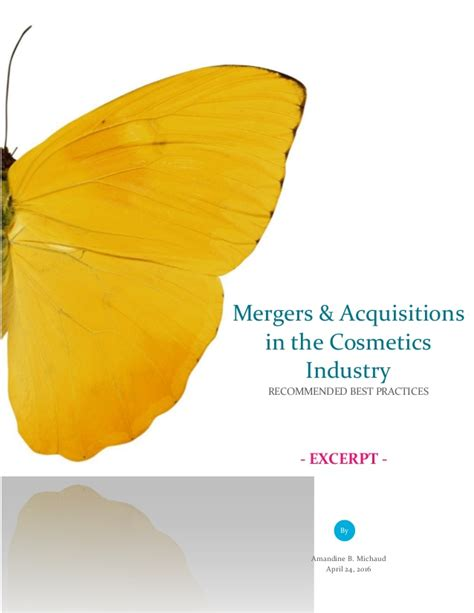 Best Mba For Mergers And Acquisitions by Mergers And Acquisitions In The Cosmetics Industry Excerpt