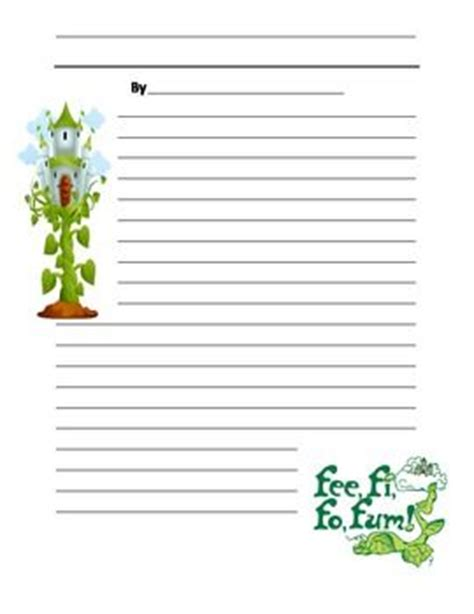 and the beanstalk writing template and the beanstalk writing paper plants and and