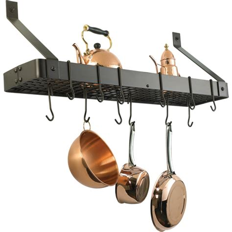 Pot Wall Rack wall pot rack rectangle in wall mount pot racks