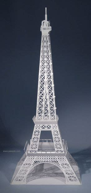 Eiffel Tower Papercraft - the eiffel tower pop up card origami architecture kirigami