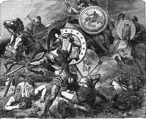 Horncase Hidung Spartan theban general epaminondas saves the of fellow general pelopidas during the victory