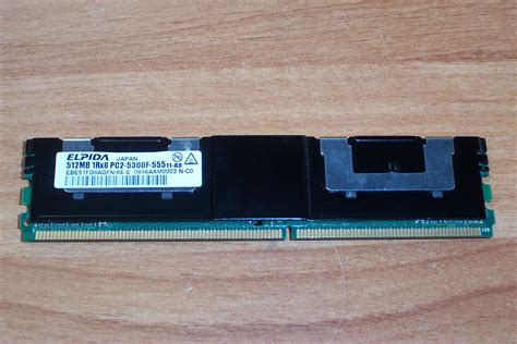 fb dimms hp 398705 551 512mb 1rx8 pc2 5300f 555 fb dimm