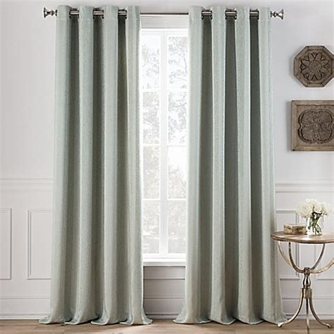 light green curtains cole stripe grommet top window curtain panel bed bath