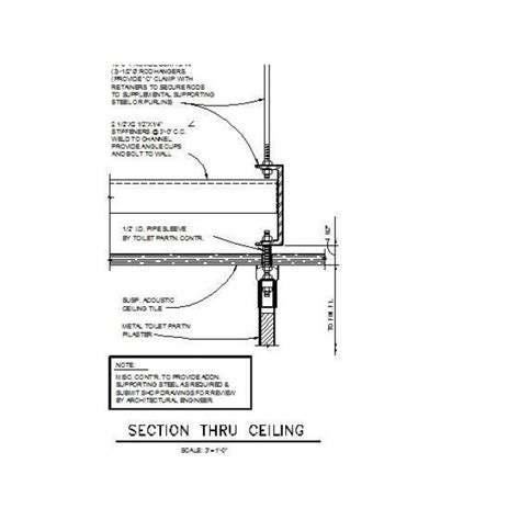 Bathroom Partition Details Dwg Toilet Partition Support Detail Dwg Drawing